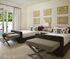 Sophisticated Twin Beds | Photo Gallery: Rooms With Twin Beds | House & Home | Photo by Kim Sargent
