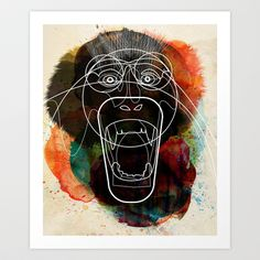 Monkey+Art+Print+by+Alvaro+Tapia+Hidalgo+-+%2419.00