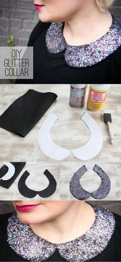 #DIY GLITTER COLLAR, # fashion ]
