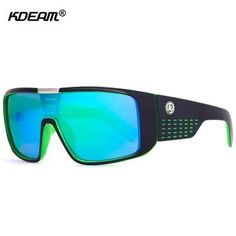 e4e7c71f96d KDEAM Oversized Shield Dragon Sunglasses Men Single Lens Steampunk Goggles  Surfing Glasses With Designer Box KD999