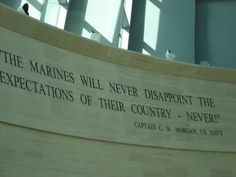 """""""The Marines Will Never Disappoint The Expectations Of Their Country - NEVER!"""" - Captain C.W. Morgan, US NAVY cc: @USMC  @U.S. Marines Marine Mom, Once A Marine, Us Marine Corps, Marine Corps Birthday, Semper Fi Marines, Usmc Love, Marines Girlfriend, Support Our Troops, Navy Seals"""