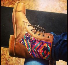 Love the new Teysha boot style! Peace in the streets Boot #handmade #CUSTOMboots #teysha