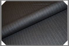 Grey w/Blue Pinstripe Suiting Fabric - bblackandsons