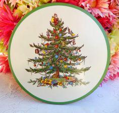 Beautiful Spode Christmas Tree Casserole Trivet