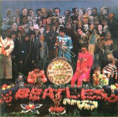 Sgt Pepper's cover photos, taken on the March 1967 by Michael Cooper. Beatles Albums, Beatles Photos, Great Bands, Cool Bands, Sgt Pepper Cover, Yellow Submarine Art, The Quarrymen, Beatles Sgt Pepper, Rare Photos
