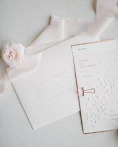 Hochzeitskarte elegant mit Kupferpr/ägung