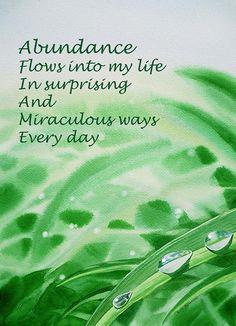 abundance + images of | Abundance Affirmation Painting - Abundance Affirmation Fine Art Print
