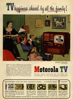 TV happiness shared by all the family! . From Duke Digital Collections. Collection: Ad*Access