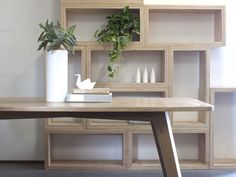 Handkrafted - Raw Edge Furniture: American Oak 6 Seater Dining Table