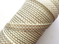 5/8″ Seafoam Gold Moroccan Pattern