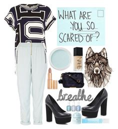 """""""what are you scared of ?"""" by bluveraa ❤ liked on Polyvore featuring Charlotte Tilbury, River Island, NARS Cosmetics, Bare Escentuals, Carvela Kurt Geiger, Chanel, Panda and Cellex-C"""