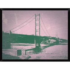 "Naxart 'Golden Gate Bridge' Framed Graphic Art Print on Canvas Size: 32"" H x 42"" W x 1.5"" D"