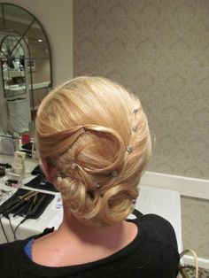Wedding hair     Formal hair with design  done by Cassandra at  : The Galleria Salon & Day Spa  Laconia, NH 03276     www.facebook.com/thegalleriasalon