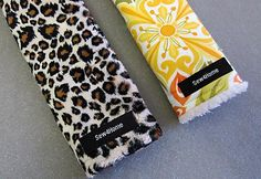DIY Seat Belt Covers. Diane can you make Ileana some cute ones of these for her car seat?