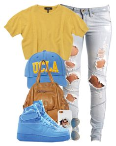 """UCLA."" by cheerstostyle ❤ liked on Polyvore featuring Lee, Isabel Marant, Jérôme Dreyfuss, NIKE and Ray-Ban"