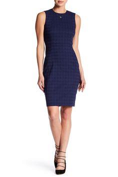 Plaid Stretch Jacquard Dress
