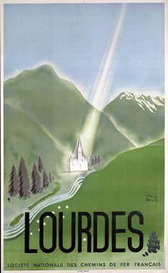 Baille, Herve  Lourdes (heavenly beam) - SNCF, 1947