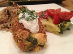 Jalapeno Popper Stuffed Chicken.  Baked, Healthy, Low Calories & Points +
