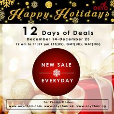 #WeekendInspiration #ONYCHair World Wide 12 Days of Deals will still be going on over the weekend! Offering daily discounts between the hours of 12am to 11:59pm (EST, GMT, and WAT) off your Favorite #Hair Collections, Bundled Deals and MORE.  Don't miss this opportunity! Be sure to check out our website for your region daily to get the details for the DEAL OF THE DAY!    Shop US Now>>> ONYCHair.com Shop UK Now>>> ONYCHair.uk Shop NG Now>>> ONYCHair.ng