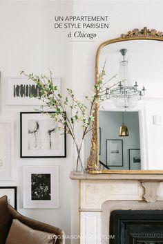 Un appartement à la déco de style parisien #déco #salon