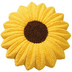 Sunflower Cake  - Creating a summer showstopper couldn't be easier. Authentically color a Sunflower Pan cake using yellow-tinted buttercream and chocolate icings.