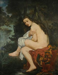 Nymph Surprised - Edouard Manet - (National Museum of Fine Arts in Buenos Aires)