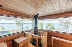 Look at the website click the link for extra options home sauna kit Prefab Cottages, Interior Design, Summer House Inspiration, House, Hot Tubs Saunas, Hot Tub, Home, Sauna Design, Modern House Exterior