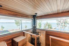 Look at the website click the link for extra options home sauna kit Home Sauna Kit, Sauna House, Interior Garden, Interior Design, Prefab Cottages, Sauna Steam Room, Sauna Design, Finnish Sauna, Summer Cabins