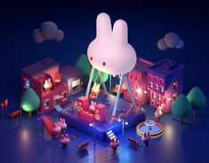 Japan Design, 3d Design, 3d Things, Hexagon Logo, Kids Toilet, Cute Cartoon Drawings, Halloween Drawings, 3d Artwork, Environment Design