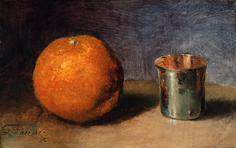 Still Life with silver goblet | Guillaume Fouace [1883]
