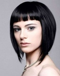 Graduated bob hairstyle with straight fringe :: one1lady.com :: #hair #hairs #hairstyle #hairstyles