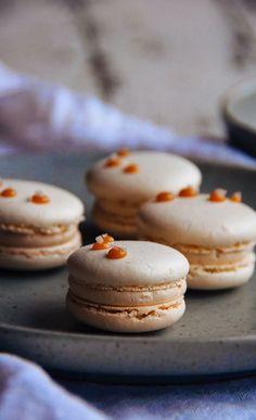 Salted Caramel Macarons   Hint of Vanilla