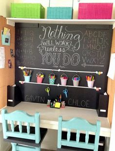 Incorporate a chalk wall.
