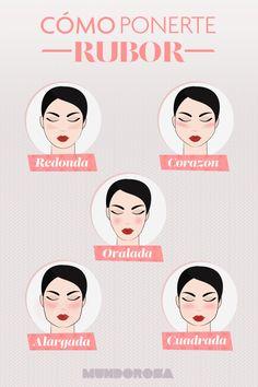 Cómo aplicarte el blush según la forma de tu cara.
