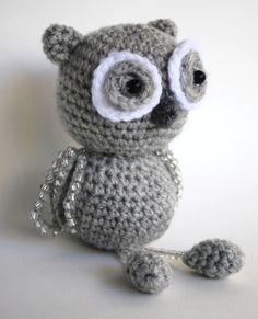 amigurumi, a crochet owl, en virkad uggla