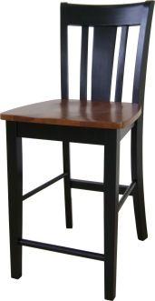 black & cherry counter stool