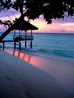 The Maldives...gorgeous sunset