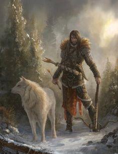 Absolutely massive collection of Character Art - Album on Imgur Fantasy Warrior, Fantasy Male, Fantasy Rpg, Medieval Fantasy, Fantasy Artwork, Wolf Artwork, Character Portraits, Character Art, Character Design
