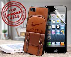 nike handbag just do it - design case for iphone 4,4s | shayutiaccessories - Accessories on ArtFire