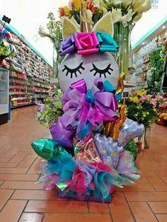 Lo quiero!!!! Diy Unicorn Birthday Party, Baby Girl Birthday, 1st Birthday Parties, Lollipop Decorations, Balloon Centerpieces, Birthday Decorations, Balloon Gift, Balloon Garland, Balloons