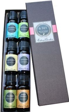 Amazon.com: Top 6 100% Pure Therapeutic Grade Basic Sampler Essential Oil Gift Set- 6/10 ml (Eucalyptus, Lavender, Lemongrass, Orange, Peppermint, Tea Tree): Health & Personal Care