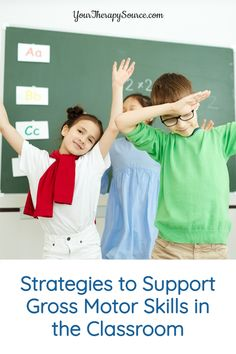 When children are able to maintain an upright posture, participate in physical activities and demonstrate eye-hand coordination skills, it is beneficial for functional learning in school. Sometimes teachers can find it difficult to make time for gross motor skills throughout the day. Here are 5 strategies to support gross motor skills in the classroom. Motor Skills Activities, Gross Motor Skills, Physical Activities, Learning Activities, Parents As Teachers, Preschool Classroom, Make Time, Therapy, Posts