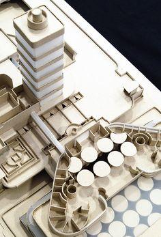 Maqueta del edificio Johnson Wax. Frank Lloyd Wright, Racine, 1936-39.