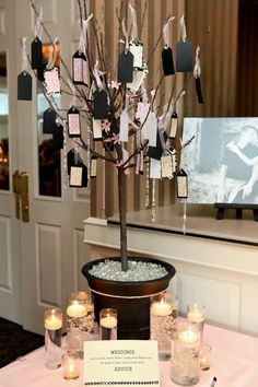 Wedding Advice Tree - We appreciate and cherish all advice from our family and friends. We know they only wish the best for us. :)