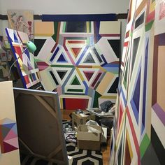 Another sneak peek from artist @jasmine_mansbridge's colourful studio. We can't wait for her exhibition at the #KoskelaGallery too many favourites to choose from already! Titled Musings & Mysteries the exhibition runs from Mar 11 - Apr 9. Join us on March 11 for prosecco and nibbles as well as an artist talk and book signing of her book 'There's a Paintbrush in my Coffee' on 'living life as a creative parent'. Stay tuned for further details. k o s k e l a  g a l l e r y  1/85 Dunning Ave…