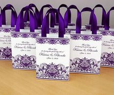 Purple Wedding Gift bags for small souvenirs Personalized Bag with satin ribbon handles, print lace and your names, Wedding favor for guests – Wedding Gifts Wedding Gift Bags, Party Gift Bags, Wedding Favors For Guests, Gifts For Wedding Party, Diy Wedding, Wedding Souvenir, Nautical Wedding, Wedding Ideas, Wedding Table