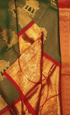 Online shopping from a great selection at Clothing & Accessories Store. Pattu Sarees Wedding, Designer Sarees Wedding, Bridal Silk Saree, Designer Silk Sarees, Organza Saree, Silk Sarees Online Shopping, Saree Shopping, Silk Saree Kanchipuram, Georgette Sarees