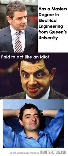 """Mr. Bean always seems to be getting himself into some sort of """"OOPS"""" situation...lol.  Rowan Atkinson is pure GENIUS, and FUNNY, FUNNY, FUNNY!!!"""