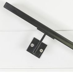 Bold's Linear Handrail Bracket - Steel Plate Bracket piece of hot rolled plate steel. Finish available in powder coated satin black or unpainted raw Wood Handrail, Staircase Handrail, Handrail Brackets, Banisters, Modern Staircase, Stair Railing, Railings, Handrail Ideas, Living Room Tv Unit Designs