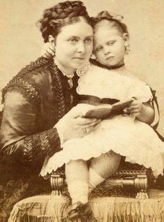Queen Victoria's eldest child - Crown Princess Victoria with her daughter Princess Viktoria of Prussia